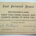 Out-Patient Attendance Card.