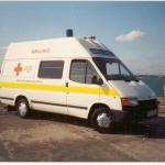 Royal Navy Ford Transit Ambulance.