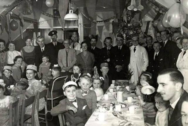 Lymington Ambulance Station Christmas Party Mid 1950's.