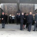 Mourners Gather.
