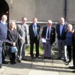 Colleagues and Friends gather at St Thomas Church, Lymington.