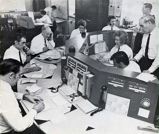 Old Hampshire Ambulance Control Room 1970s.