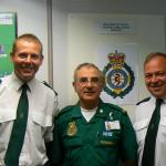 Peter with Officers from the South Central Trust.