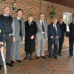Service Colleagues gather at Basingstoke Crematorium.